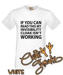 Blue Cotton Cloak Australia - INVISIBILITY CLOAK Funny Wizard Magic Joke T-shirt Vest Tshirt 2018 fashionable Brand 100%cotton For Man