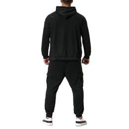 11ff1a669141 Men s Autumn Winter Leisure Suit Pure Color Sweatshirt Top Pants Sets  Tracksuit New Arrival Casual Fashion Pullover Men 2018