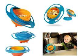 Pack Supplies Australia - 360 Rotating Kid-Proof Non Spill Feeding Toddler Gyro Bowl Lid Avoid Food Spilling Children Creation Bowl As Feeding Supplies OPP packing