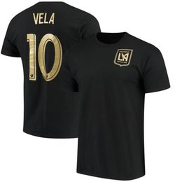 Grey Tee Shirts UK - Men 2018 MLS Tees 10 VELA 9 ROSSI Los angeles one goal football club fans t-shirts blue Grey black