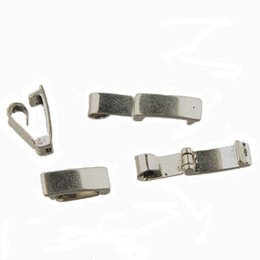diy bracelets materials UK - brass clasps bracelets hooks diy jewelry accessories extend toggles end cap connectors rectangle blank copper material silver13*5mm 200pcs