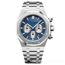 Zone green battery online shopping - 2019 Mens Watch Quartz VK Chronograph Movement Watches Stainless Steel Sapphire Glass Male Fashion Business mm Wristwatch