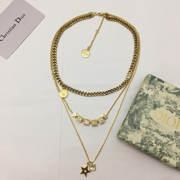 $enCountryForm.capitalKeyWord Australia - Designer Necklace Lucky Square Gold Plated Metal White Crystal Necklace Pandora 2019 Luxury Fashion Accessories New Style