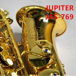 JUPITER JAS-769 New Arrival Alto Eb Tune Saxophone Brass Musical Instrument Gold Lacquer Sax With Case Mouthpiece Free Shipping on Sale