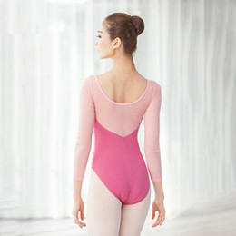 sexy ballet dancing NZ - Hollow Adult Ballet Leotards Basic Leotards F Women Long Sleeve Sexy Gymnastics Leotard F Dance Ballet Bodysuit Dancing Costume