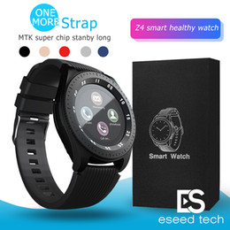Cameras watCh straps online shopping - Z4 Bluetooth Smart watch Wristband Android inch LCD Smart Watches With Camera TF SIM Card Slot Gift Watches Strap With Retail Package