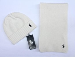 $enCountryForm.capitalKeyWord Australia - POLO Hot Sale New Fashion Winter And Autumn Warm Hat High Quality Cap Men Women Scarf Hats Knitted Caps Scarf Adjustable New Brand