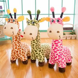 Giraffe Toys Australia - Cartoon plush giraffe sika deer decoration room baby toy animal plush toy children's toy birthday gift