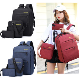 wholesale computer backpacks NZ - Backpack Multifunctional waterproof Oxford cloth computer casual bag 1 set=3 pieces of different combination backpack Business computer bag