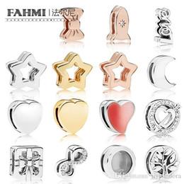 $enCountryForm.capitalKeyWord Australia - FAHMI 100% 925 sterling silver Shine Reflexions Star Clip Rose Space Ship Clip Moon Bow Gift Heart SPARKLING INFINITY Clip Charm