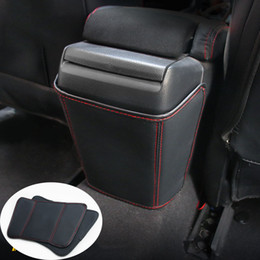 armrest pads 2020 - Car Styling Fit For 10th Gen Civic sedan 2016-2019 PU leather Rear Seat Armrest Box Anti-kick Pad discount armrest pads