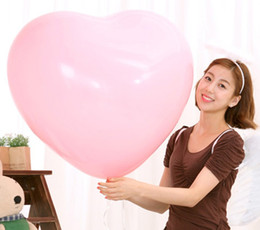 Discount 36 inches helium balloons - Colorful Blow Up 36 Inches Oversized Heart Love Balloon Helium Inflable Big Latex Balloons for Wedding Birthday Party De