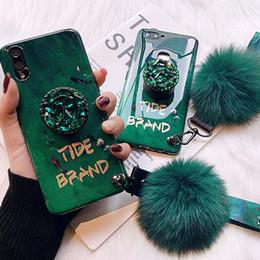 $enCountryForm.capitalKeyWord NZ - Fox hair ball luxury fashion jade shiny diamond extension bracket + set for iphone 6 7 8 plus X XR XS MAX phone case
