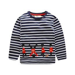 $enCountryForm.capitalKeyWord Canada - Boys Clothes 2 years Baby Boys Tops And Tees Kids Baby Boys Long Sleeve Stripe Print T-shirt Top Clothes Baby Costume D19