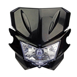 universal fairing UK - 12V 35W Universal Street Fighter Headlight Headlamp Fairing kit For KAWASAKI YAMAHA SUZUKI HONDA KTM Dirt Bike Motorcycle