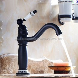 kitchen faucets oil rubbed bronze Australia - Oil Rubbed Bronze Swivel Spout Bathroom   Kitchen Sink Faucet - One Hole Hot Cold Mixer Water Tap Knf507