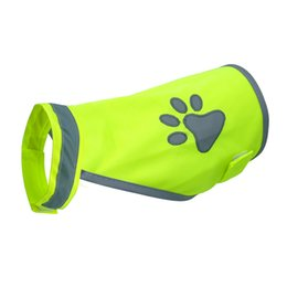 $enCountryForm.capitalKeyWord UK - Reflective Super Visibility Dog Clothes Paw Print Dog Safety Vests Harness For Small Medium Large Dogs Outdoor Hiking Walking