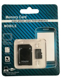 New packagiNg products online shopping - Hot new product GB GB GB Class TF CARD Memory Card with GIFT Adapter Retail Package Flash TF Cards DHL