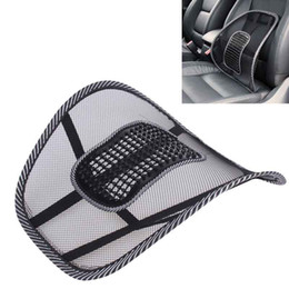 Car Office Chairs Australia - Black Mesh Cloth Car Seat Waist Cushion Lumbar Waist Support Lumbar Pillow Automobiles Office Chair Relief Back Pain Auto Accessories