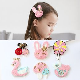 Post Cartoons Australia - Korean children's post cartoon cute post magic stick sticky hair accessories headdress princess baby girl broken hair stickers