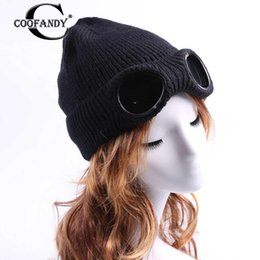 $enCountryForm.capitalKeyWord Australia - None Outdoor glasses and Pattern Glasses Winter Windproof Hat Knitted Women Autumn Ski Warm Cap