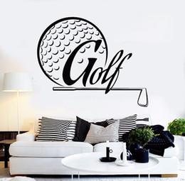 $enCountryForm.capitalKeyWord Australia - Wall Sticker Golf Player Wall Art Mural Removable Vinyl Golf Design Wall Decal Club Golfer Room Decor Golf Player Sticker