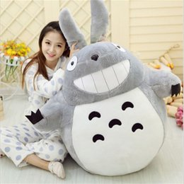 Soft Toys Prices Australia - 1pcs 55cm Famous Cartoon Totoro Plush Toys Smiling Soft Stuffed Toys High Quality Dolls Factory Price Home Decoration Gift
