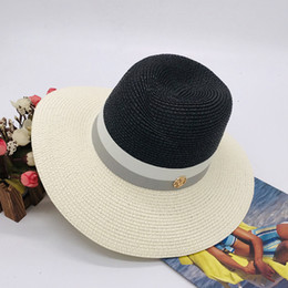 garden blocks Australia - High quality lady wide-brimmed jazz hat straw hat pink grey patchwork sun block hat fcmZB-39