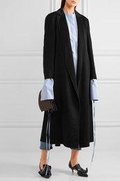 Weaved leather belt online shopping - Women s Woolen Coats With Belt Nice New Winter Outwear Coat Elegant Slim Turn Down Collar Big Size Street Wear Woolen Jacket