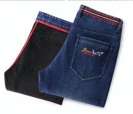 $enCountryForm.capitalKeyWord Australia - Bruce&Shark Winter Men Jeans Fashion Casual High Quality Embroidery Straight leg Fleece heavyweight big SIZE 28 TO 42 8257