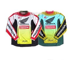 Honda long online shopping - New sup downhill service FOX mountain bike bicycle riding suit long sleeve shirt HONDA summer off road motorcycle clothing T shirt