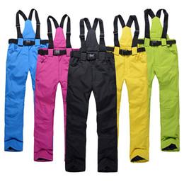 Ingrosso Pantaloni sci Uomini E Donne esterni di alta qualità impermeabile antivento caldo Coppia Pantaloni Inverno Neve Sci Snowboard Pantaloni Marca