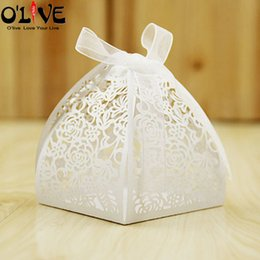 $enCountryForm.capitalKeyWord Australia - 50 Pcs Gift Box Baby Shower Candy Box Paper Packaging Wedding Party Favors Sachets Cardboard Boxes Bonbonniere Goodie Bags