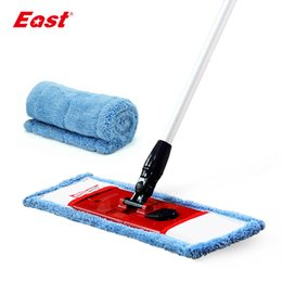 eco friendly towels UK - East flat telescopic mop with pole microfiber cloth towel home floor cleaning kitchen living room flat mop cleaning tools T200628