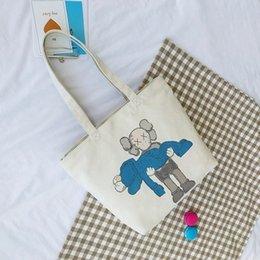 2019 bolsas de senhoras senhoras viagem designer de moda de alta qualidade sacos de compras de ombro da lona de pano de compras bolsas de lona de algodão B101236D venda por atacado