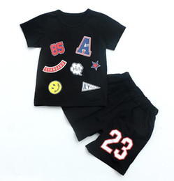 $enCountryForm.capitalKeyWord UK - 2019 HOT SELL New Style Children's Clothing For kids Boys And Girls Sports Suit Baby Infant Short Sleeve Clothes Kids Set 2t-9t ORES
