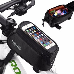 "$enCountryForm.capitalKeyWord UK - 4.8"" 5.5"" Pvc Bicycle Bag Outdoor Cycling Bicycle Frame Pouch Front Tube Bag Bike Bags For Cell Phone 4 Color"