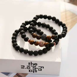 Micro Oil Australia - Micro-inlaid zircon beads beads men and women aura cure bracelet essential oil diffusion yoga bracelet