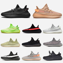 multi angle light Australia - Kanye Black Angle Clay Gid Glow 3M Black Reflective Static Zebra Beluga 2.0 Bred Womens Designer Sneakers Mens Running Shoes Size 13