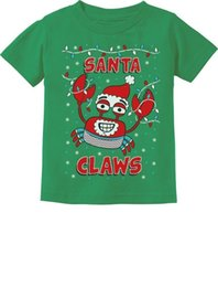 $enCountryForm.capitalKeyWord Australia - Santa Claws Crab Xmas Lobster Ugly Christmas Toddler Kids T-Shirt Gift Idea Funny free shipping Unisex Casual Tshirt
