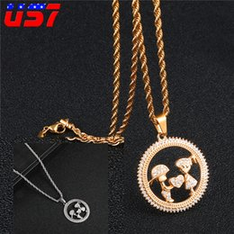 $enCountryForm.capitalKeyWord Australia - US7 Hip Hop Iced Out Lovers Gift necklace Stainless Steel Couple Pendant Round Heart Shape Necklaces Set For Men Women Jewelry