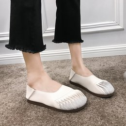 comfortable soft women shoes Australia - 2020 spring new ladies flat shoes shallow mouth soft bottom non-slip wear-resistant comfortable sweet campus women shoes U19-19