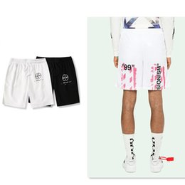 $enCountryForm.capitalKeyWord NZ - Trend 19ss Pink Graffiti Cotton Material Shorts Lovers Men And Women Paragraph Summer Shorts