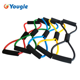 tube yoga equipment Australia - band tube 2 pieces 8-Shaped Resistance Loop Band Tube for Yoga Fitness Pilates Workout Exercise Fitness Equipment Chest Developer