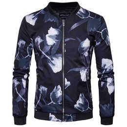 $enCountryForm.capitalKeyWord Canada - Male Jackets Printing International European Size 2019 Spring New Fashion Boutique Men's Stand Collar Jacket Casual Men's Jacket