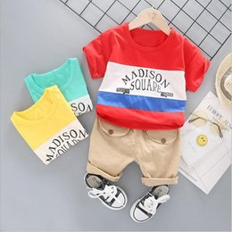 Childrens Red Tutus Australia - Bestselling new childrens clothes 2019 Summer New Style Mens baby two piece T-shirt sleeved suit boy and girl Sweater 1-4T