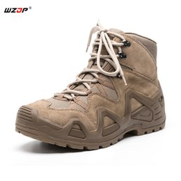 Camp Shoes For Men Australia - WZJP Outdoor Sports Tactical Mountain Climbing Boot Men Wear-resisting Shoes Non-slip Camping & Trekking Shoes for Hiking