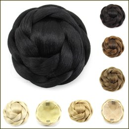 Donut Buns For Hair Australia - Synthetic Hair Braided Chignon Knitted Hair Bun Donut Roller Hairpieces Hairpiece Accessories for Women