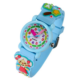 acrylic water glasses Australia - JNEW Children's Watch Beach Girl Style Watches Fashion Cute Acrylic Glass Stainless Steel Waterproof Wrist Watches Clock Blue NO86225