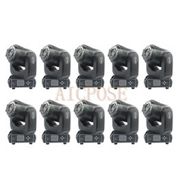 $enCountryForm.capitalKeyWord Australia - 10Pcs lots Moving Head Light 90W LED With 3 Face Prism Spot Light With Rotation Gobo Function DJ Disco Stage Light Wedding Show